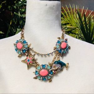 Betsey Johnson Shell Shocked turtle necklace